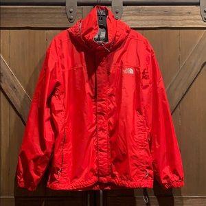 EUC THe North Face Hyvent red raincoat, SzM